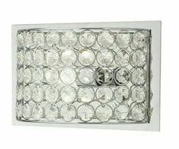 Krystal Ice 9.88-in W 1-Light Chrome Crystal Pocket Wall Sco