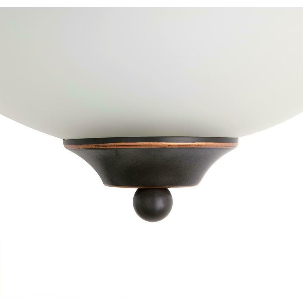 Commercial Electric Rubbed Bronze Wall Sconce Twinpack