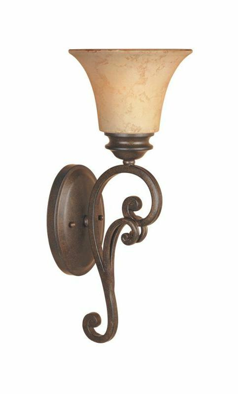 1-Light Wall Sconce, Elegant and Warm, Durable, Installs Up