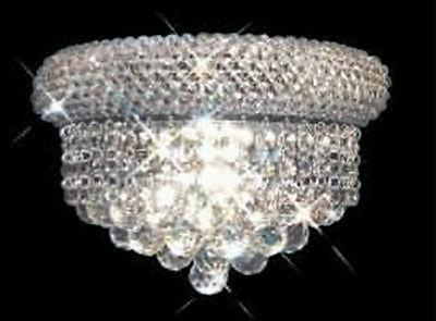 "12"" Palace Wall Sconce Foyer Dining Crystal Chandelier Gold"