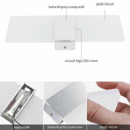 12W Modern Wall Up Cube Indoor Sconce Warm