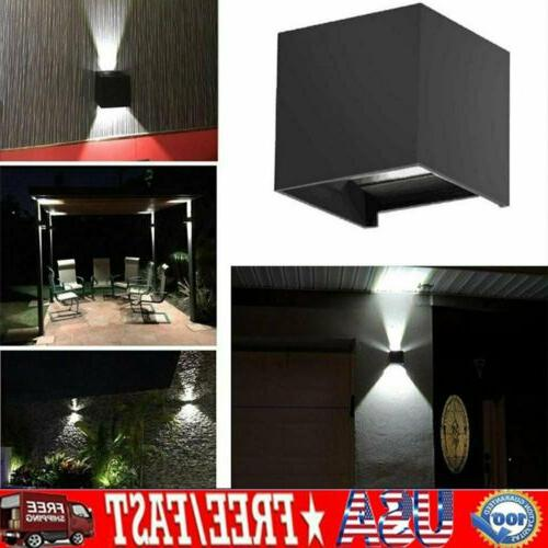 12w led wall light porch outdoor cube