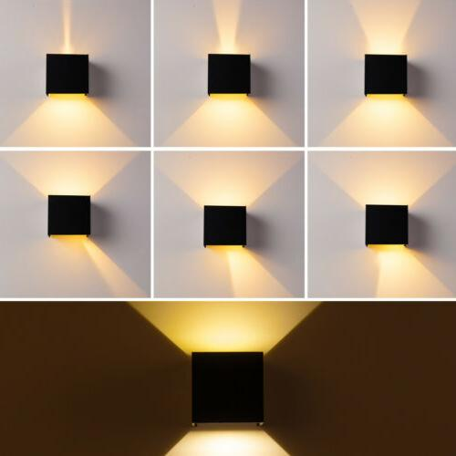 12W Modern Wall Cube Indoor Outdoor Lighting