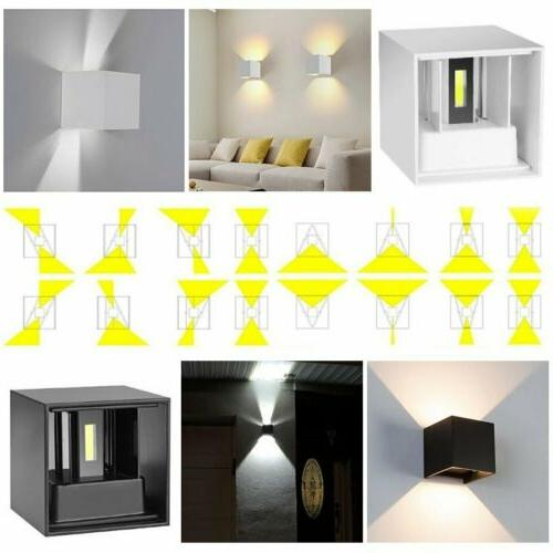 12W LED COB Wall Cube Sconce Lamp Waterproof IP65