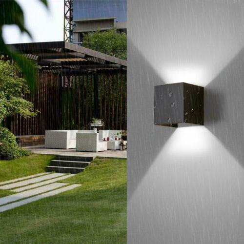 12W LED Wall Lights Up Down Cube Waterproof IP65