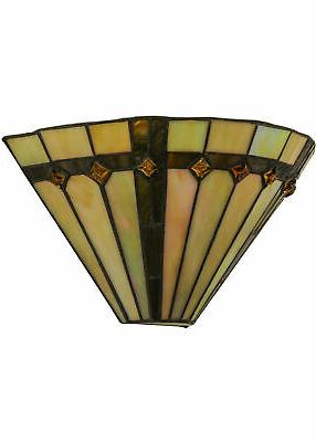 Meyda Tiffany Belvidere Hand-Crafted Wall Sconce with