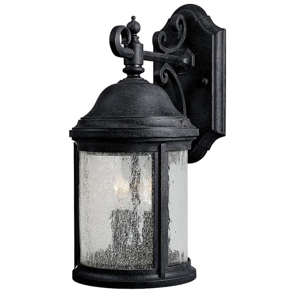 2 Light Black Antique Style Wall Lantern Outdoor Exterior Ya