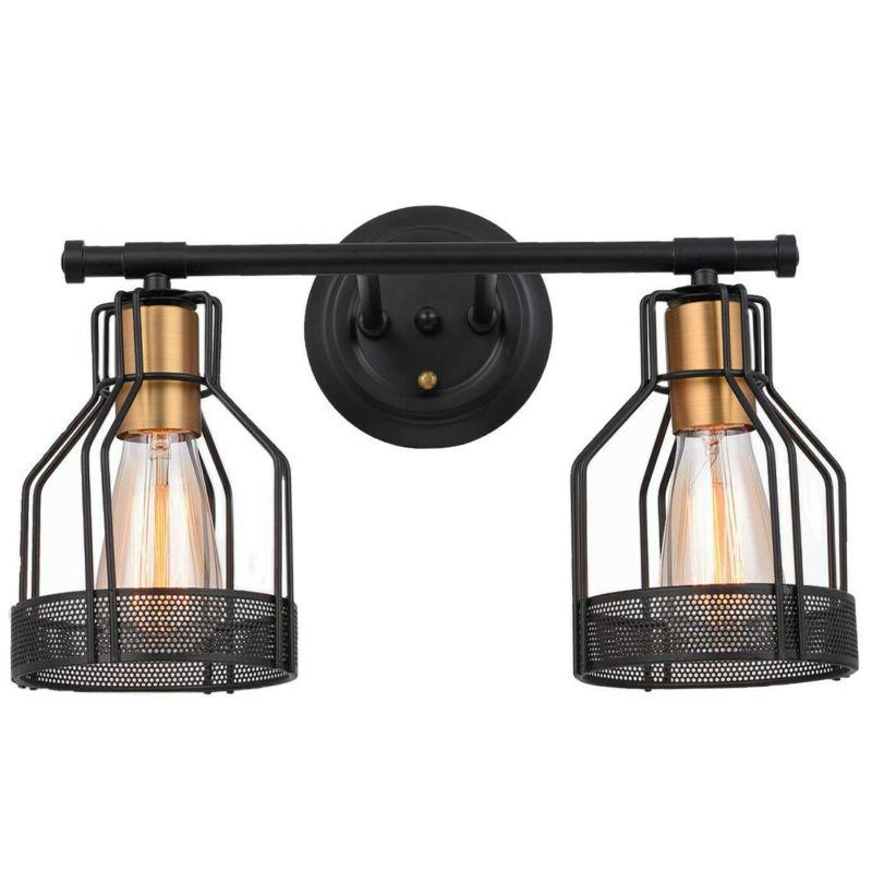 2 Light Light Industrial Wire Cage Light