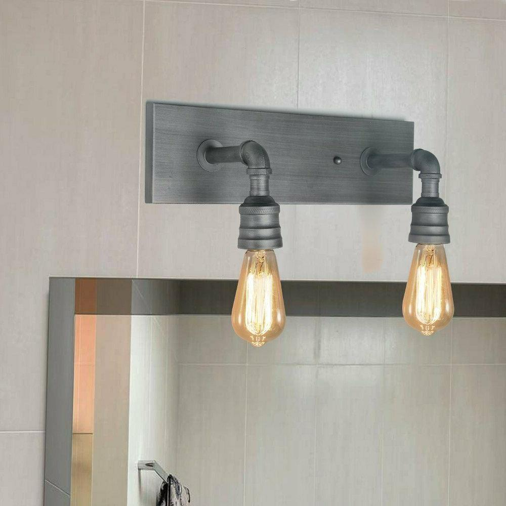 2-Light Wall Sconce Bathroom Lamp Industrial Sconces