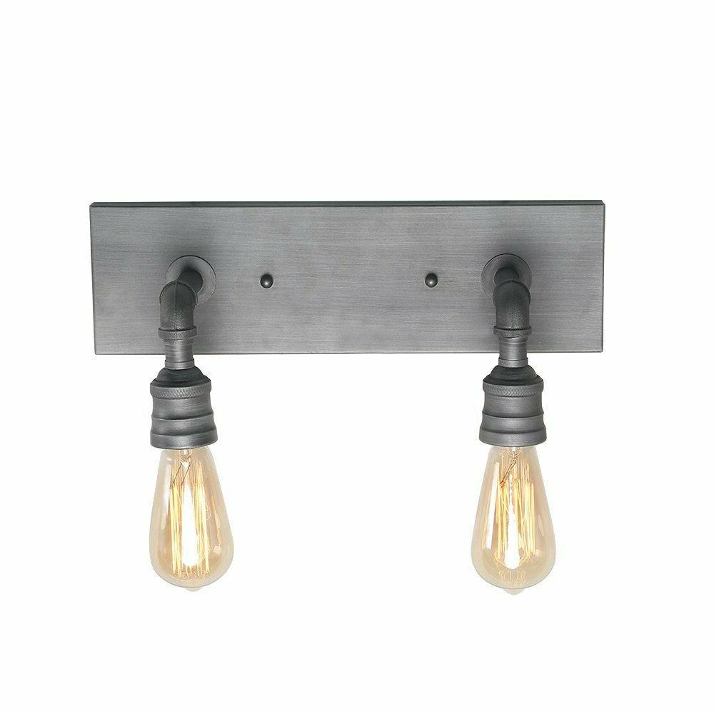2-Light Vanity Wall Sconce Metal Bathroom Wall Lamp Sconces