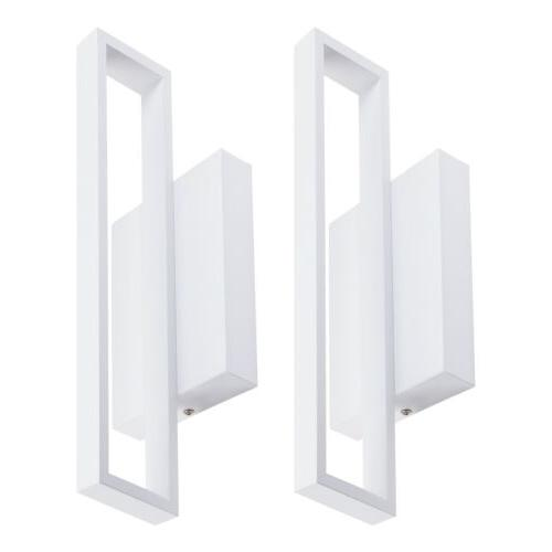 2 pack 12w led square wall sconce