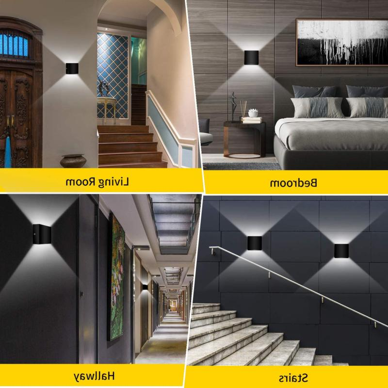 2 Pack LED Wall Sconce Modern Wall Up Down