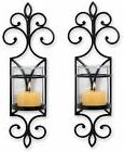 2-Wall Sconces Electric Light Metal Set Elegant Ambiance Imp
