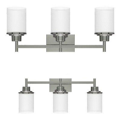22 Inch 3-Light LED Vanity Fixture Brushed Nickel Wall Sconc
