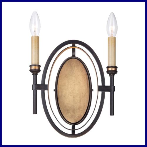 25644 Infinity Wall Sconce Oil Rubbed Bronze/Gold