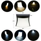 3 LED Solar Smart Waterproof Wall Lamps Lights Sconces Outdo