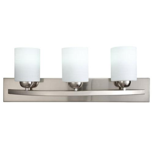 3 Light Metal Sconce Modern Lampshade Fixture Bathroom