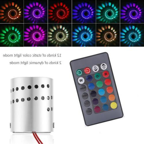 3W LED RGB Wireless Wall Light Spiral Hole Wall Lamp Indoor