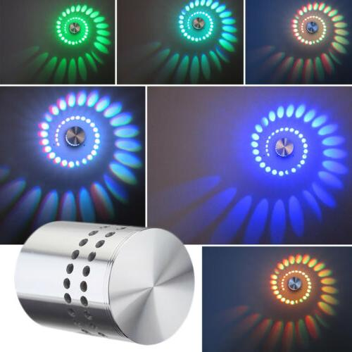 3W RGB LED Wall Light Ceiling Sconces Spot Lighting Fixture