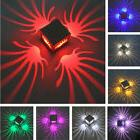 3W RGB Spiral LED Wall Light Sconces Lamp Decor Fixture Porc