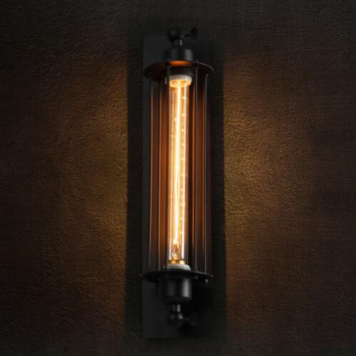 Vintage Industrial Sconce Lamp Steampunk Edison Cage Wall