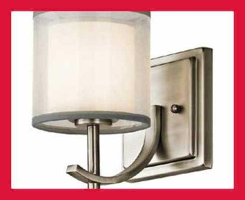 Kichler Satin Etched WHITE Wall Sconce In