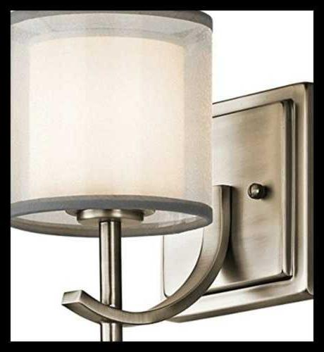 Kichler Satin Etched WHITE Wall Sconce
