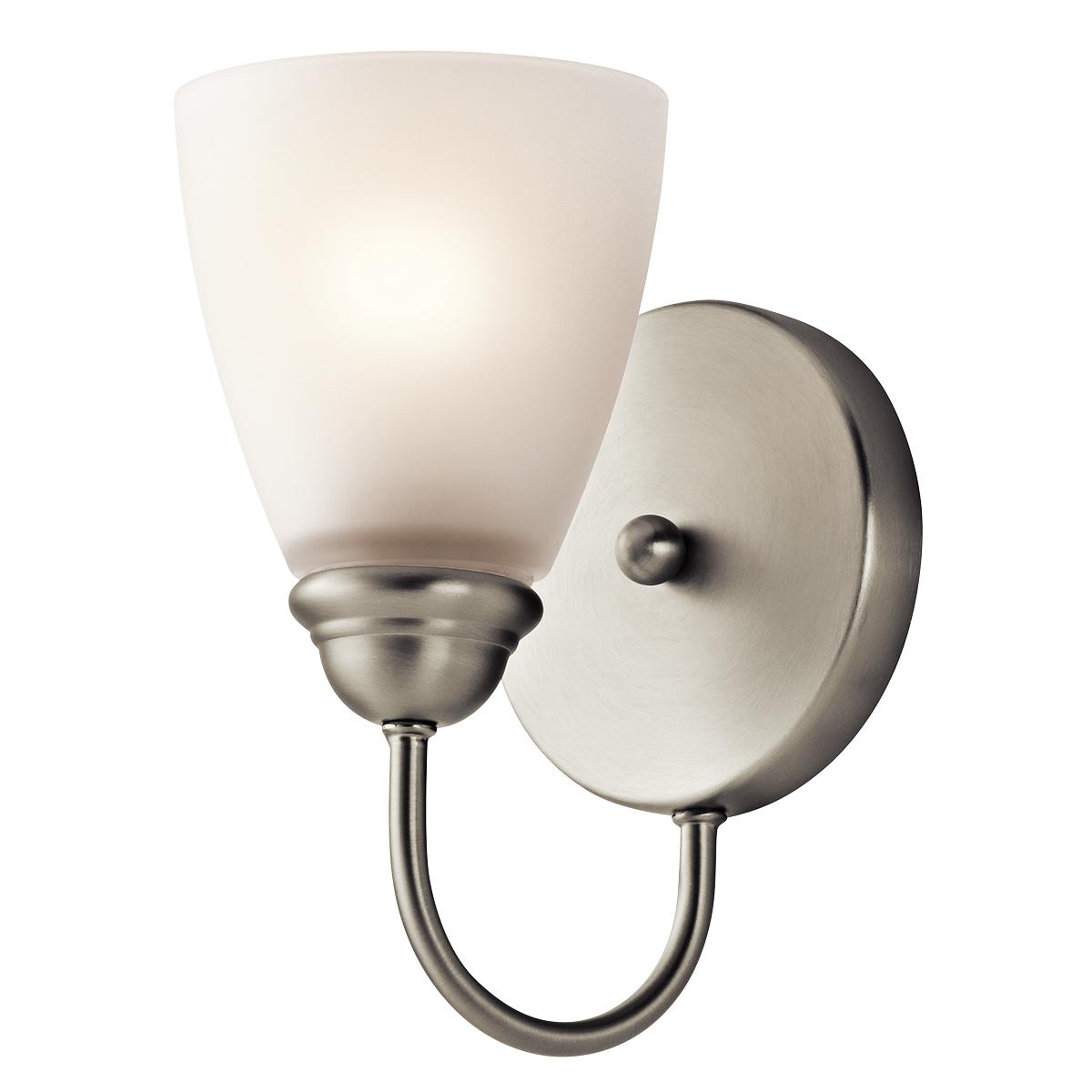 45637ni lighting jolie 1 light wall sconce