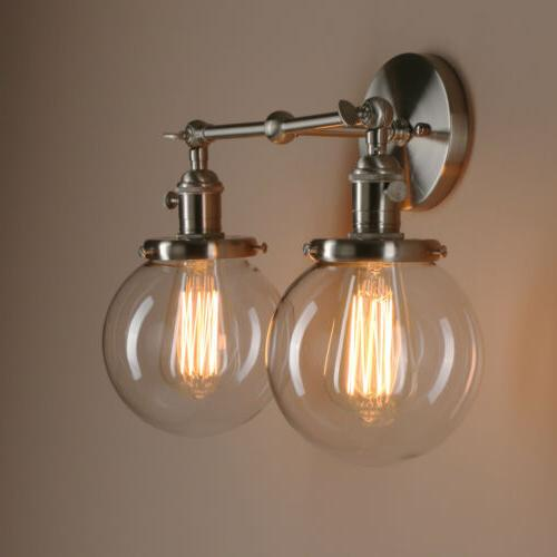 """Pathson 5.9""""Globe Industrial Double Arm Lamp Lighting Sconce"""