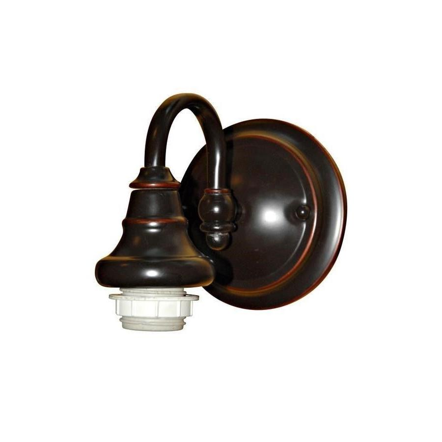Portfolio 6.37-in W 1-Light Bronze Arm Wall Sconce-WSF111-1W