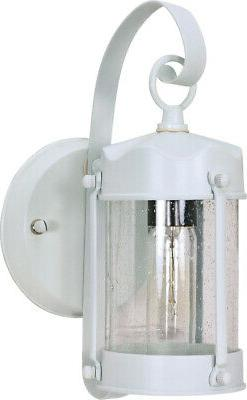"""Nuvo Lighting 60/3460 11"""" Tall Outdoor Wall Sconce - White"""