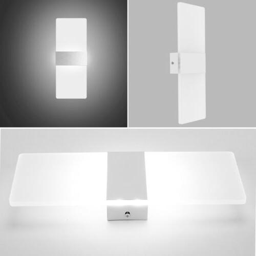 Modern LED Waterproof Exterior Down Cube Sconce Lamp