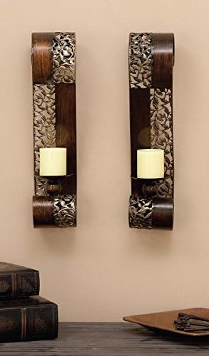 Deco 79 Metal Candle Sconce, Of