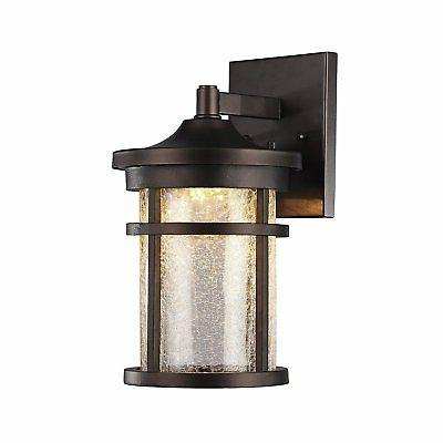 Chloe Lighting 8 in. Outdoor Wall Sconce in Rubbed Bronze