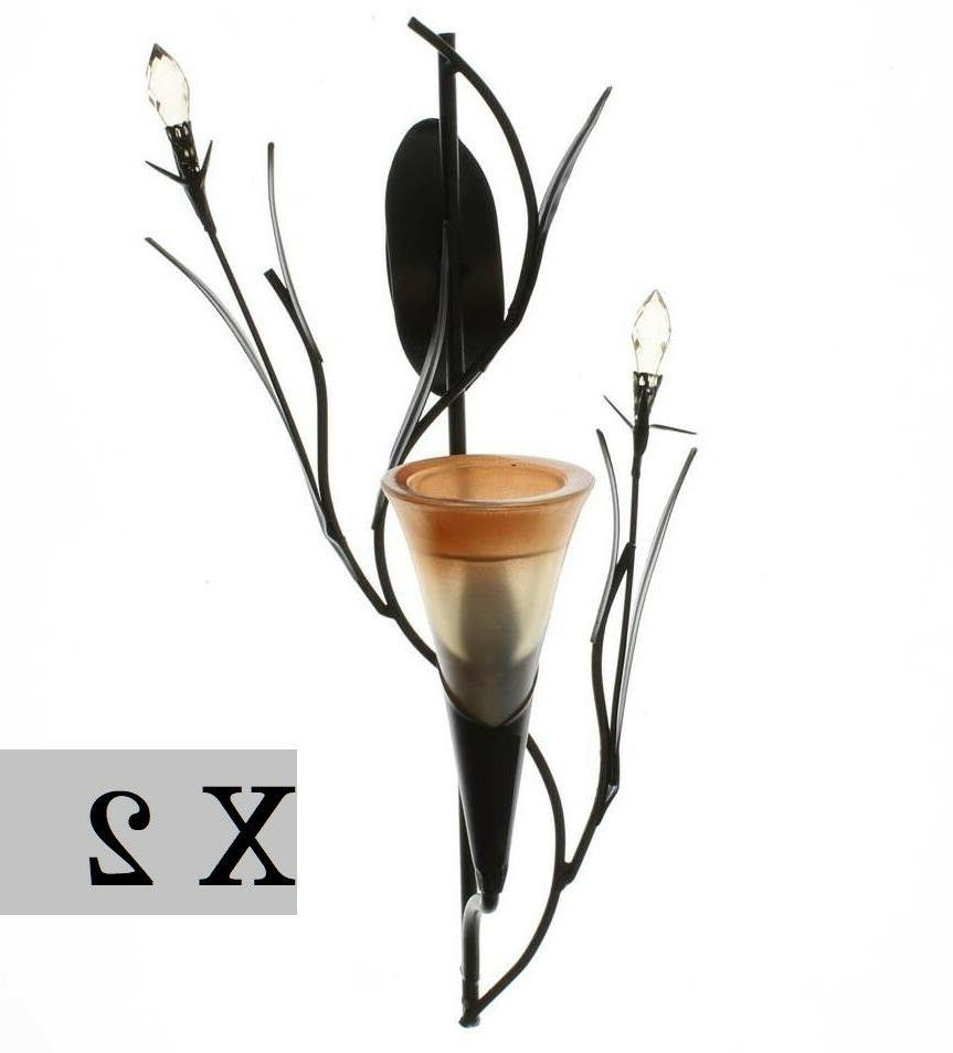 Set 2 Dawn LILY WALL SCONCE Flower Candle Holder Gallery of