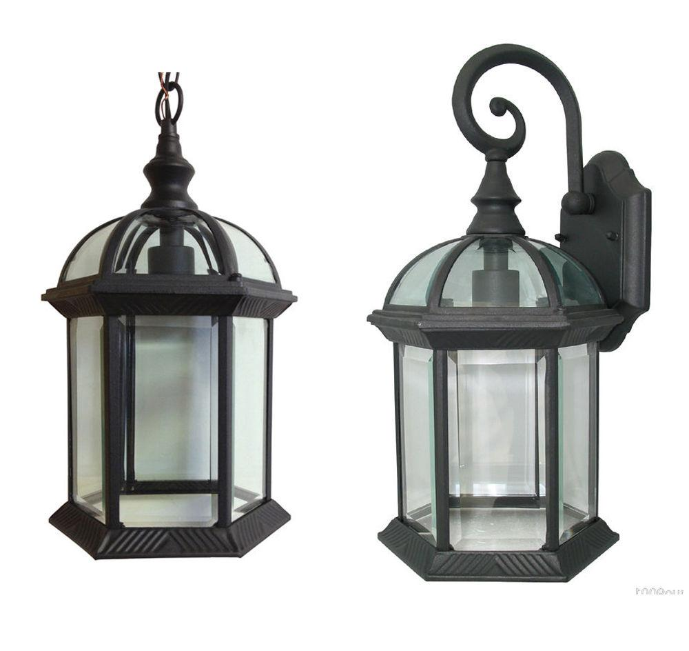 aluminum outdoor exterior lantern wall lighting fixture