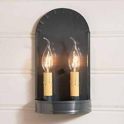 arch double wall sconce in country tin