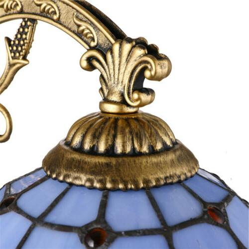 Tiffany Brass Baroque Stained Lamp Wall Fixture