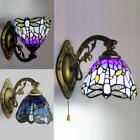 Baroque Tiffany Style Wall Lamp Blue Stained Glass Wall Scon