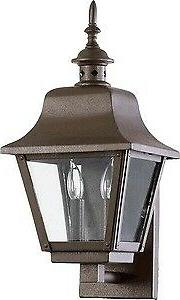 Bishop - Two Light Outdoor Wall Sconce  Oiled Bronze Finish