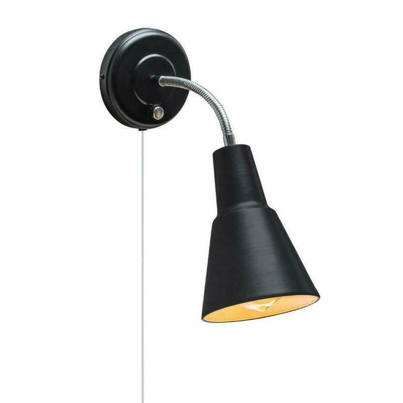 black wall mount sconce light task lamp