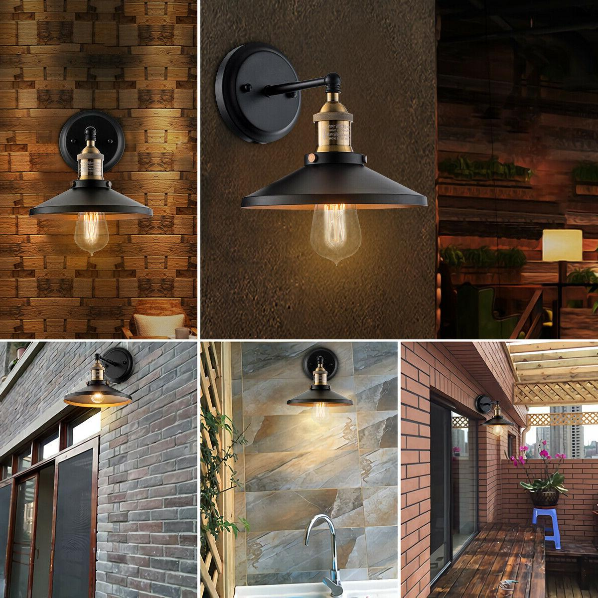 Black Wall Industrial Vintage Wall Lamp Porch