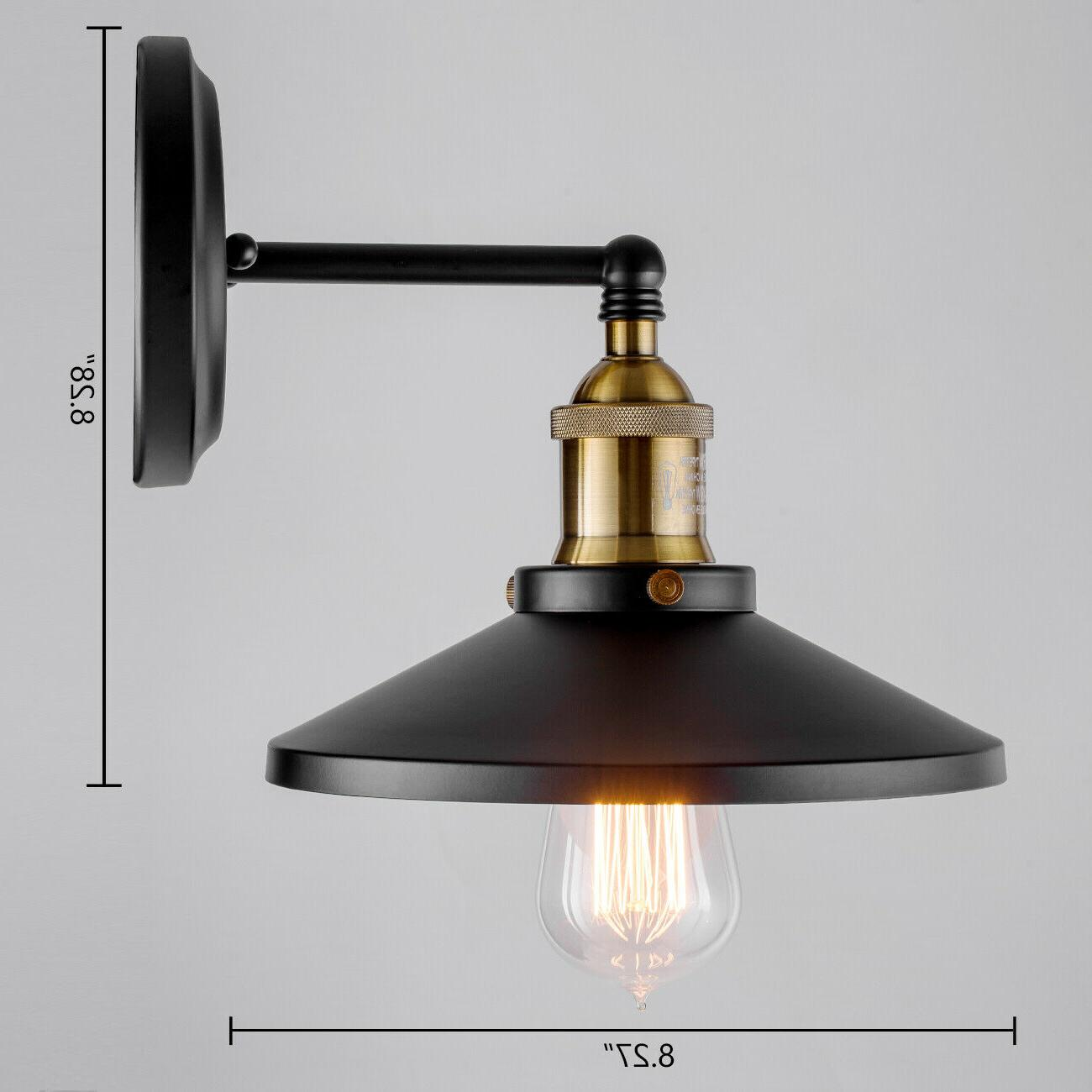 Black Wall Industrial Vintage Wall Porch Light