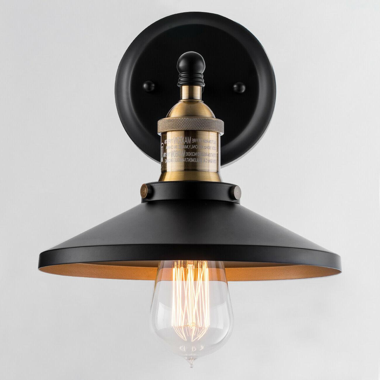 black wall sconce industrial vintage wall lamp