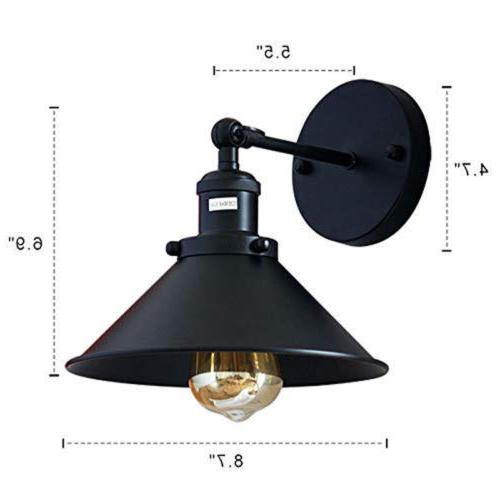 Black Wall Sconce Lamp 2-Pack Hallway