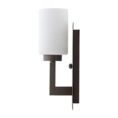 Brio Sconce Fixture – Bronze Frosted Shade