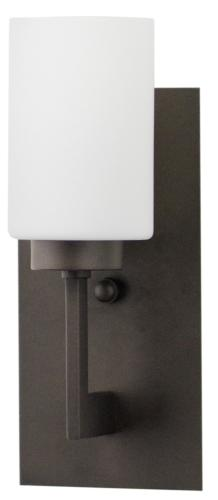 Brio Wall Sconce Light Fixture – Bronze w/ Frosted Glass S