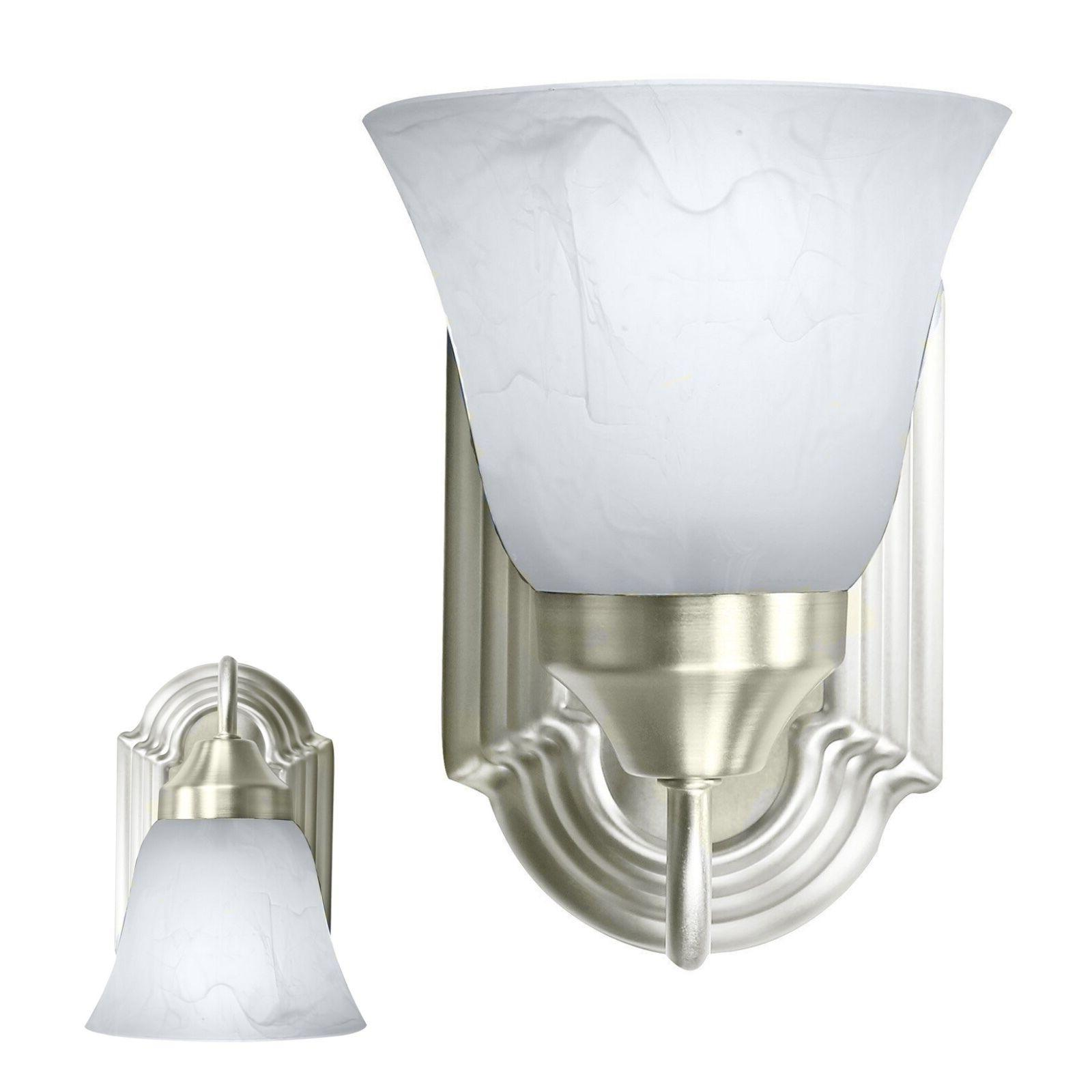brushed nickel wall sconce light