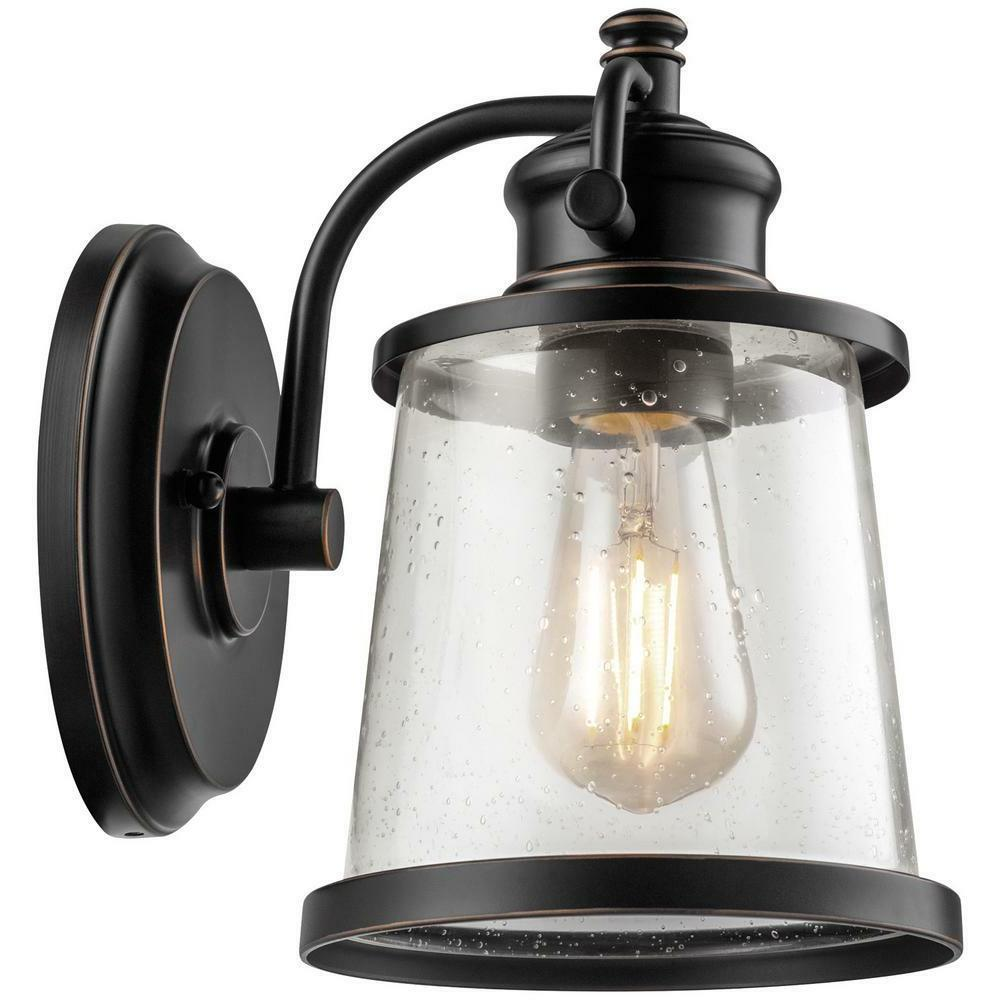 Globe Electric Charlie Collection 1-Light ORB LED Outdoor Wa
