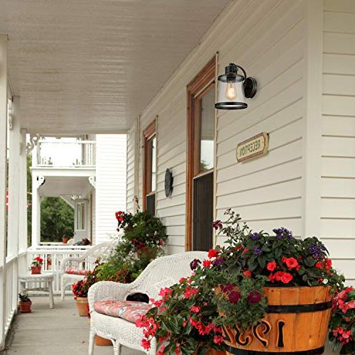 Globe Electric Charlie 1-Light Oil Outdoor Mount with Shade 44127